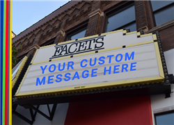 FACETS Marquee Custom Message